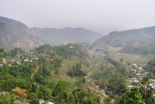 Горная долина на подъезде к Дарджилингу