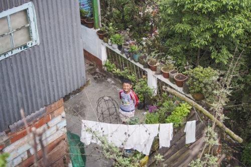 Заглянем сверху в один из двориков