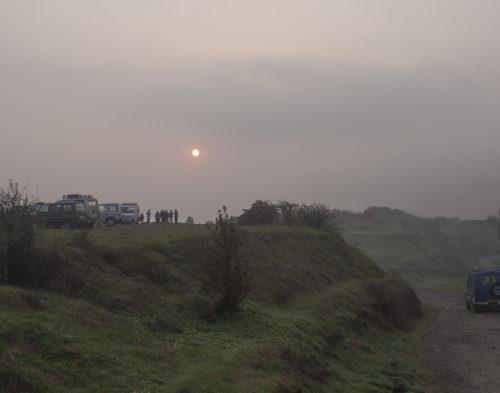 Туманный рассвет на Тигровом холме