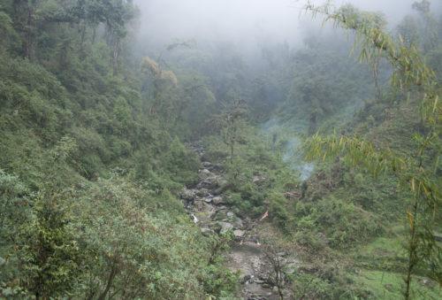 Спуск в расщелину