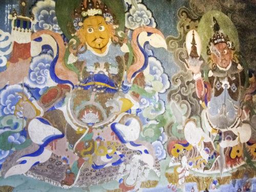 Роспись стен монастыря Дабди