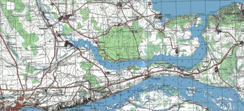 Карта Самарской Луки в районе Светелки