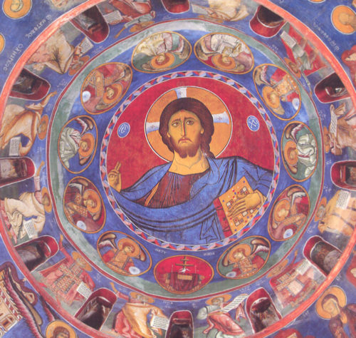 Христос Пантократор в куполе храма.