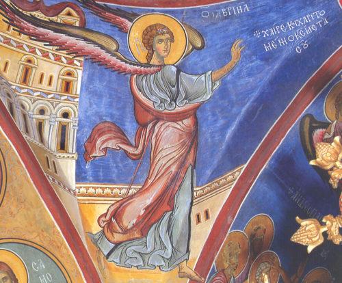 Архангел Гавриил в сцене Благовещения.