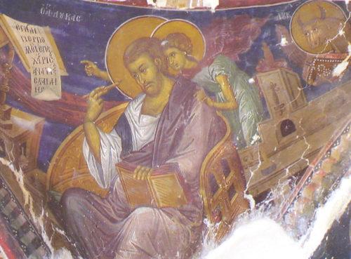 Евангелист Лука. Роспись церкви Святого Креста в деревне Пелендри