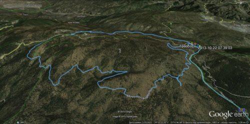 Карта кругового поход вокруг горы Олимп (Atalanti trail).