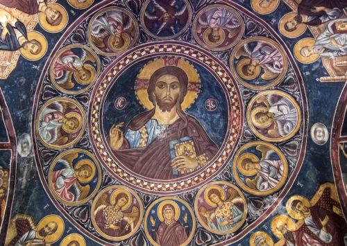 Христос Пантократор. Роспись купола церкви Богородицы Асину в Никитари