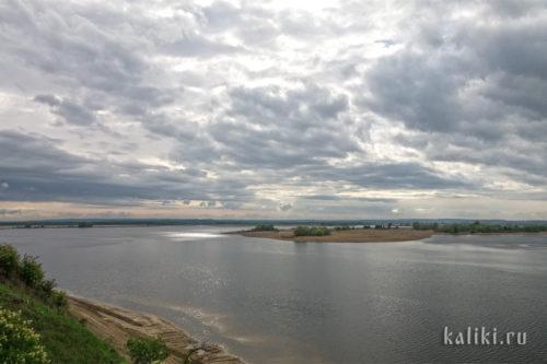 Вид с острова на северо-запад