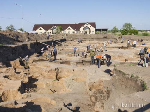 Раскопки на Болгарском городище