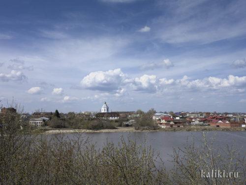 Ильинская церковь. Вид через реку Крымза