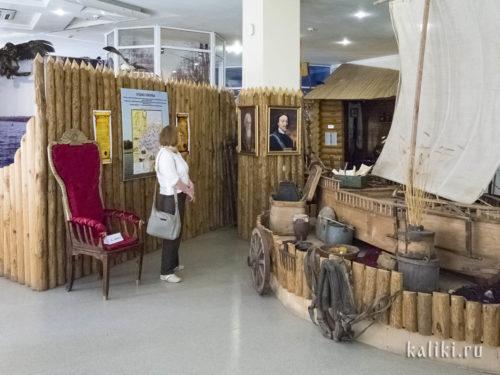 В начале исторической экспозиции Сызранского краеведческого музея