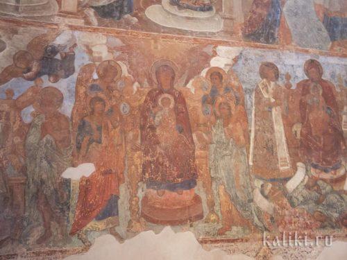 Фрески Знаменского собора. Богоматерь с предстоящими