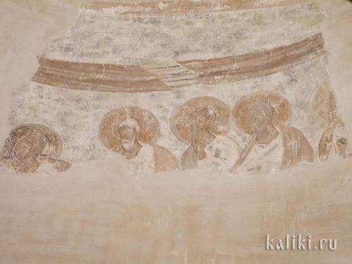 Фреска церкви Федора Стратилата. Апостолы на Евхаристии
