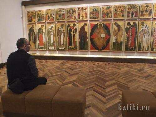 Иконостас церкви Петра и Павла в Кожевниках в новгородском музее-заповеднике