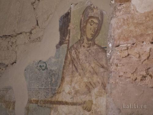 Фреска о праведном Иове Николо-Дворищенского собора. Фрагмент