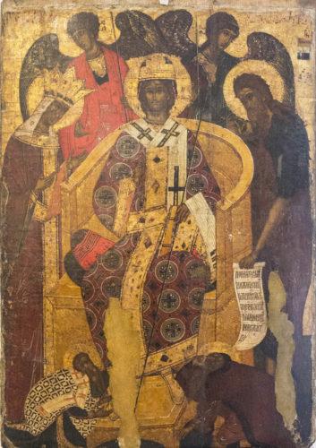 Предста Царица. Из собрания Псковского художественного музея
