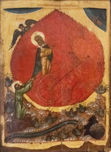 Огненное восхождение пророка Илии. Из собрания Псковского художественного музея