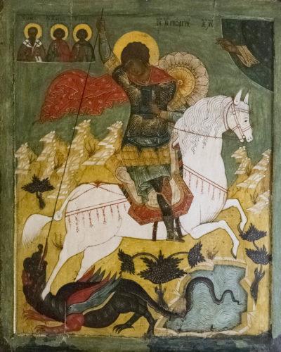 Чудо Георгия о змие. Из собрания Псковского художественного музея