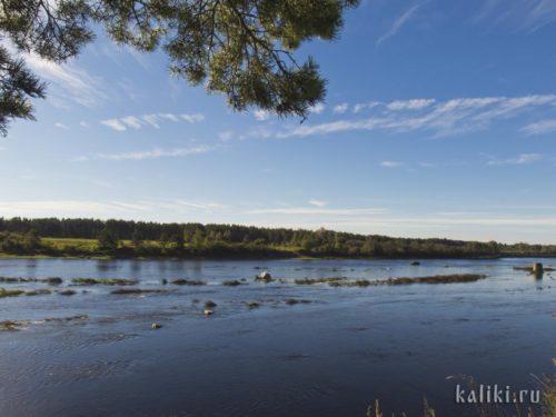 Река Великая в районе Выбут