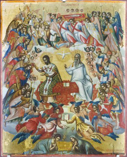 Божественная Литургия. 1585-1591гг. Михаил Дамаскин. Из собрания музея христианского искусства в Ираклионе