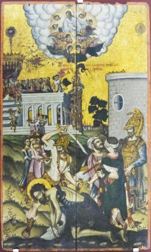 Усекновение главы Иоанна Предтечи. XVIII век. Из собрания музея христианского искусства в Ираклионе