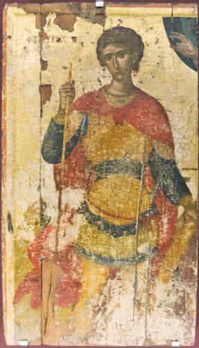 Святой Фанурий. XV в. Работа Ангелоса Акотантоса. Из собрания музея христианского искусства в Ираклеоне