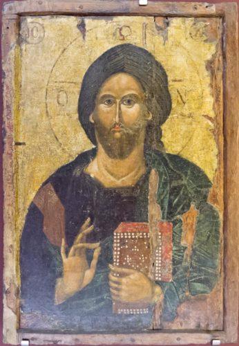 Христос Пантократор. Конец XIV века. Из собрания музея церковного искусства в Ираклионе