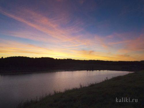 Рассвет на Городищенском озере