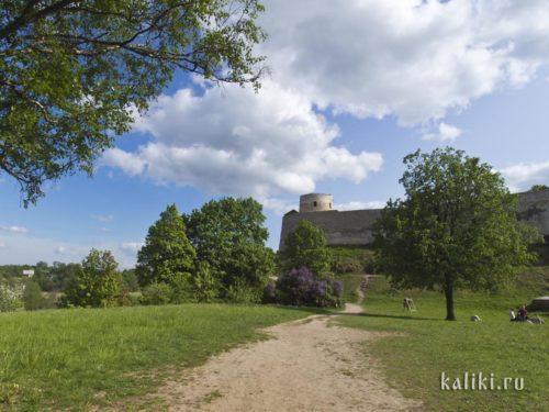 Вид на Изборскую крепость с южной стороны