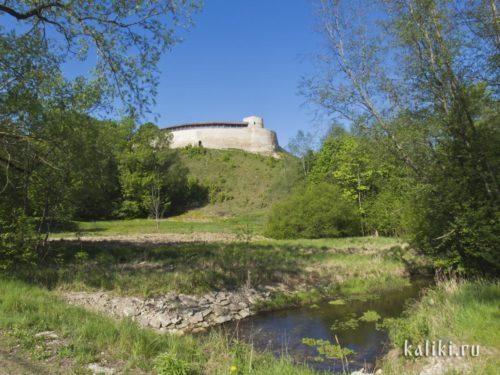 Изборская крепость и башня Луковка
