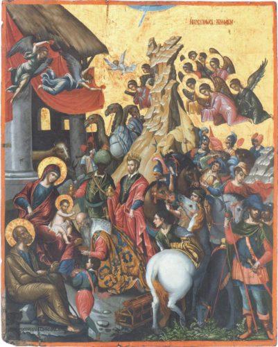 Поклонение волхвов. 1585-1591. Михаил Дамаскин. Из собрания музея христианского искусства в Ираклионе