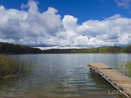 На озере около Спасо-Елеазарова монастыря
