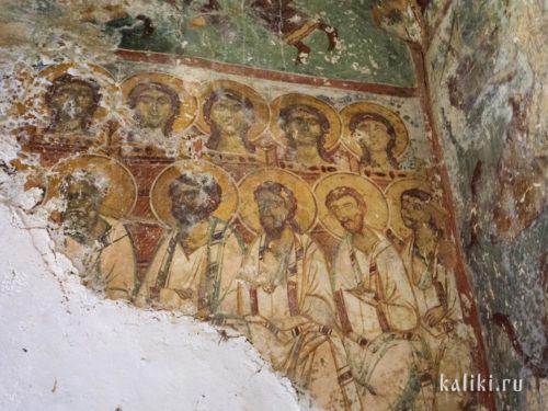 Святые. Фреска церкви св. Иоанна Богослова в Киссосе