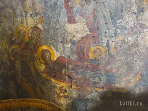 Успение Богородицы. Фреска церкви Христа Спасителя в деревне Акумиа