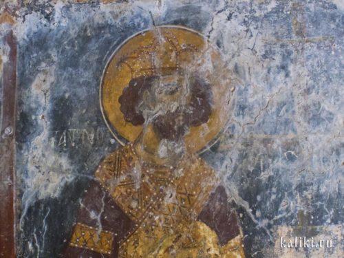 Возможно, царь Соломон. Фреска церкви Иоанна Богослова в Киссосе