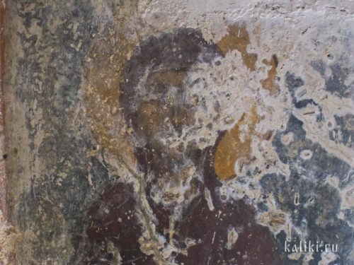 Возможно, изображение Богородицы. Фреска церкви Иоанна Богослова в Киссосе