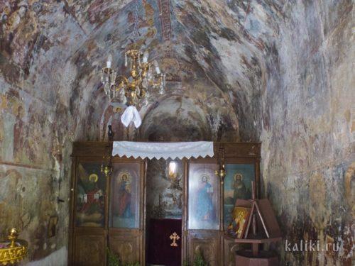 Алтарная часть церкви Иоанна Богослова в Киссосе