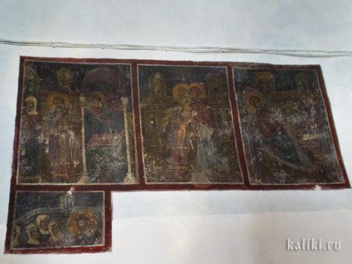 Фрагменты жития св. Иоанна Предтечи. Фрески церкви св. Иоанна Предтечи в Маргаритес