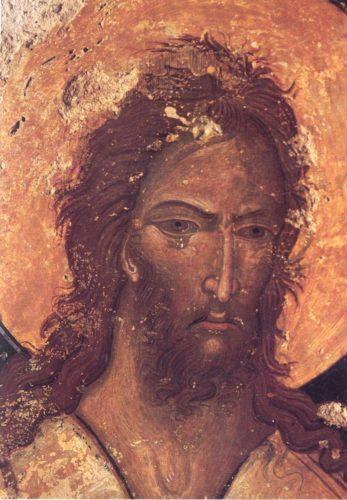 Алексей человек Божий. Фреска церкви Богородицы Живоносный источник около деревни Принос