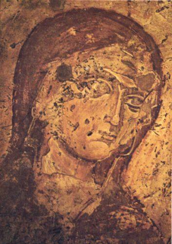 Святая Анна. Фреска церкви Богородицы в Лампини