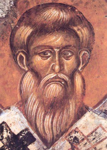 Святой Власий, епископ Севастийский. Фреска церкви св. Ирины в Мурне