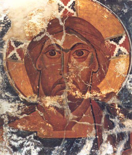 Христос Пантократор в алтарной апсиде церкви св. Марины