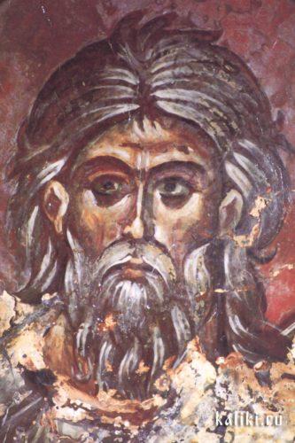 Пророк Исайя. Фреска церкви св. Иоанна Предтечи в деревне Гарипас