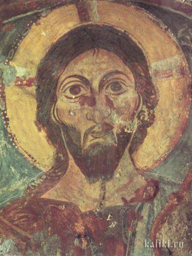 Христос Пантократор в конхе алтарной апсиды. XI век. Церковь Богородицы Панагии в Хромонастири