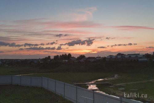 Закат в Дивеево