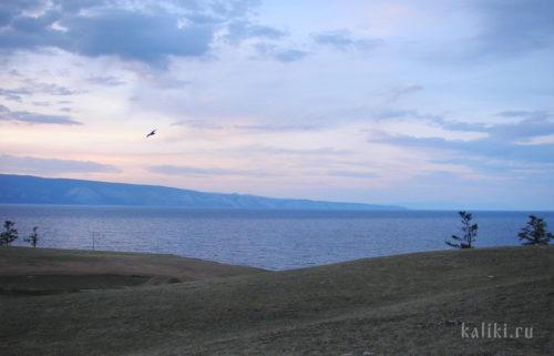 озеро Байкал, Малое море, остров Ольхон, закат