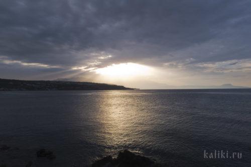 Закат в Ретимно