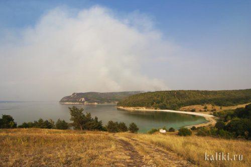 Пожар во время засухи 2010 года в районе Молодецкого кургана