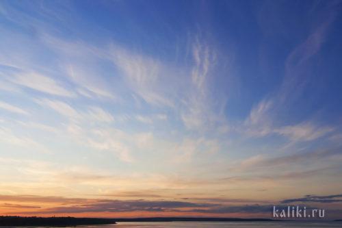 небо, облака, рассвет