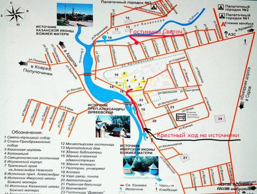 Карта Дивеево
